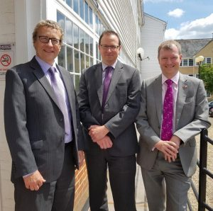 enior Partner Nigel Whittle, Partner Graham McNeill and Managing Partner Nick Forsyth