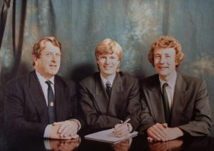 Managing Partners Past and Present Pictured left to right: Mike Lambert, Nick Forsyth and Nigel Whittle