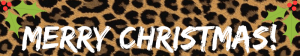Merry Christmas leopard print banner