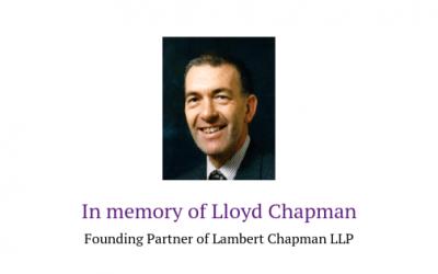 In memory of Lloyd Chapman