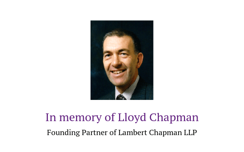 In memory of Lloyd Chapman